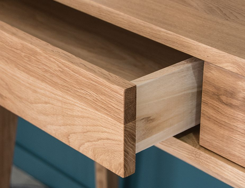 Drawer Console Oak Solid