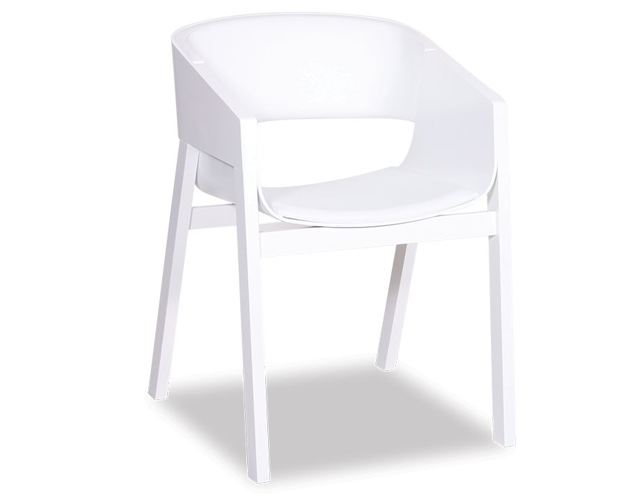 Merano Chair White_With_Pad