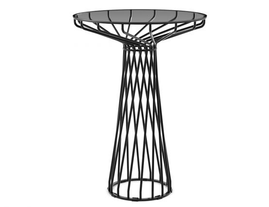 High Bar Table With Glass Top