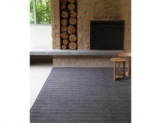 Charcoal Limestone Herringbone Weave