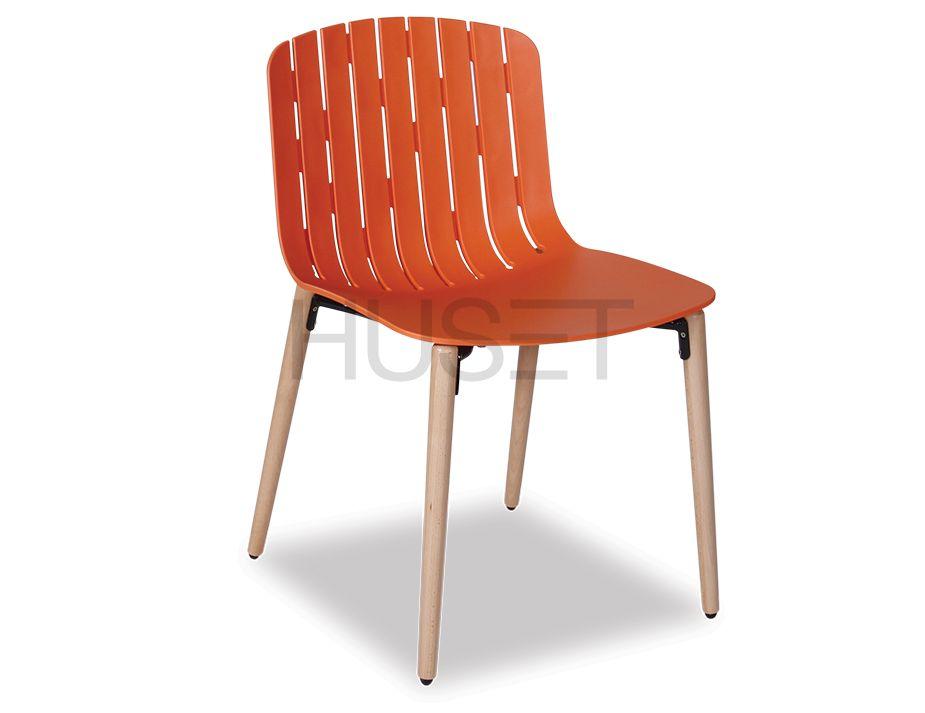 Orange Gotcha Wood Legs