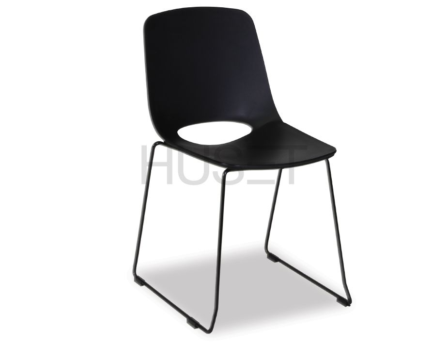 Chair With Black Sled Legs
