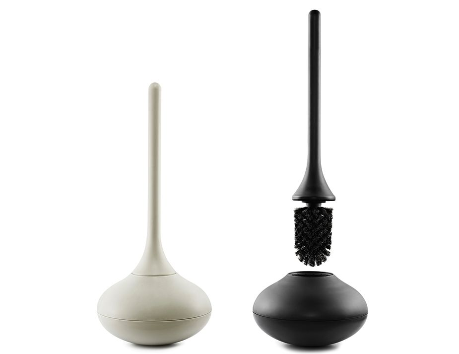 Black Cream Toilet Brush