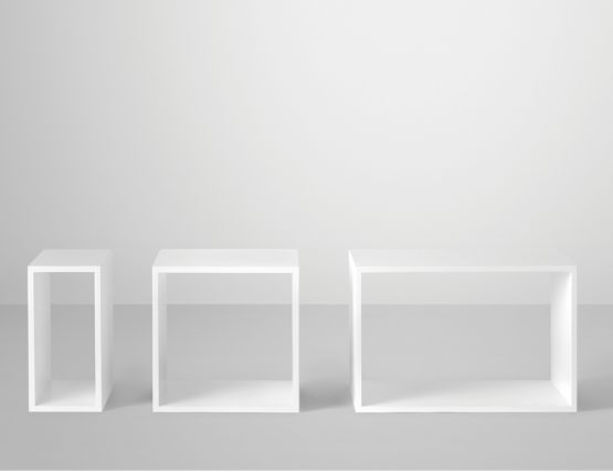 Stacked Set White No Back