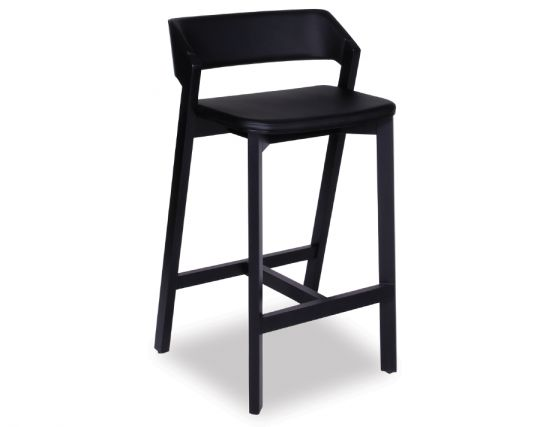 Merano Bar Stool Black Pad
