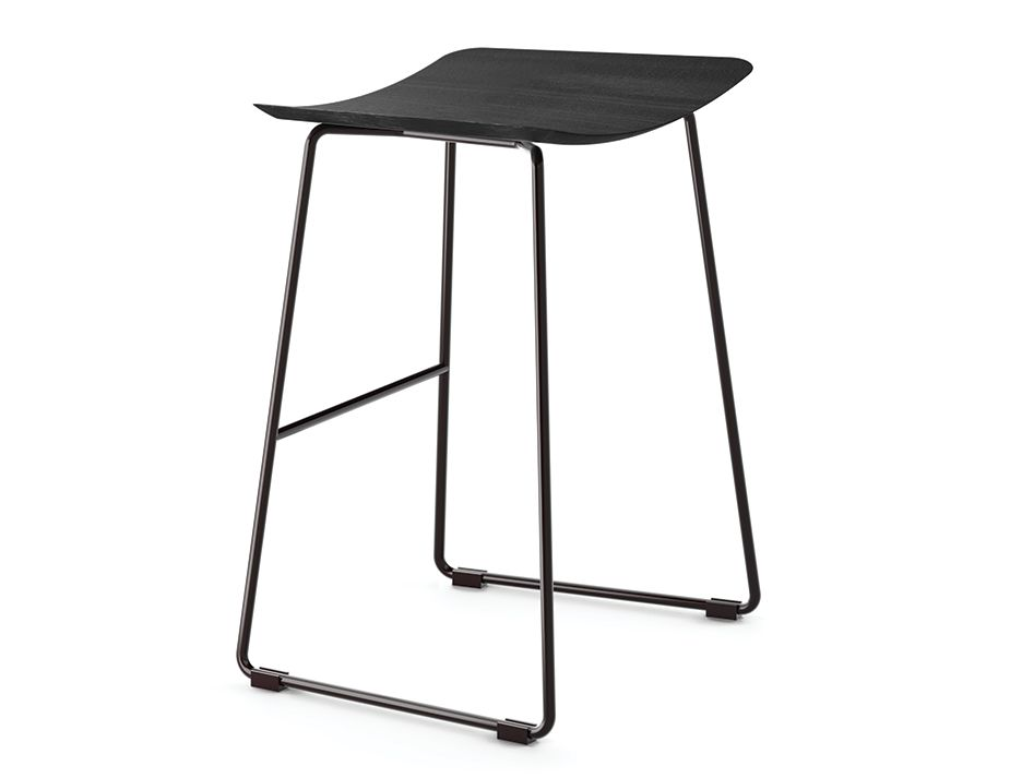 Low Black Stool