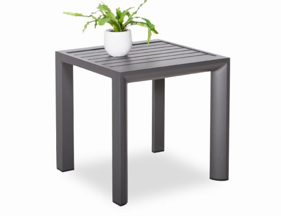 Alvor_alum Side Table Charcoa