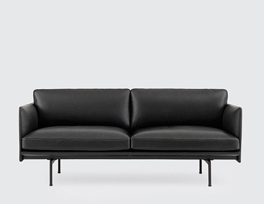 Oslo Blkleather Sofa