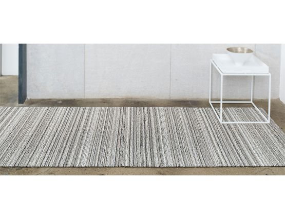 Chilewich Shag Skinny Stripe Birch Runner