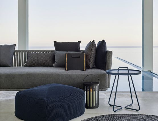 Moments Sofa With Divine Pouf
