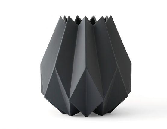 Charcoal Folded Vase