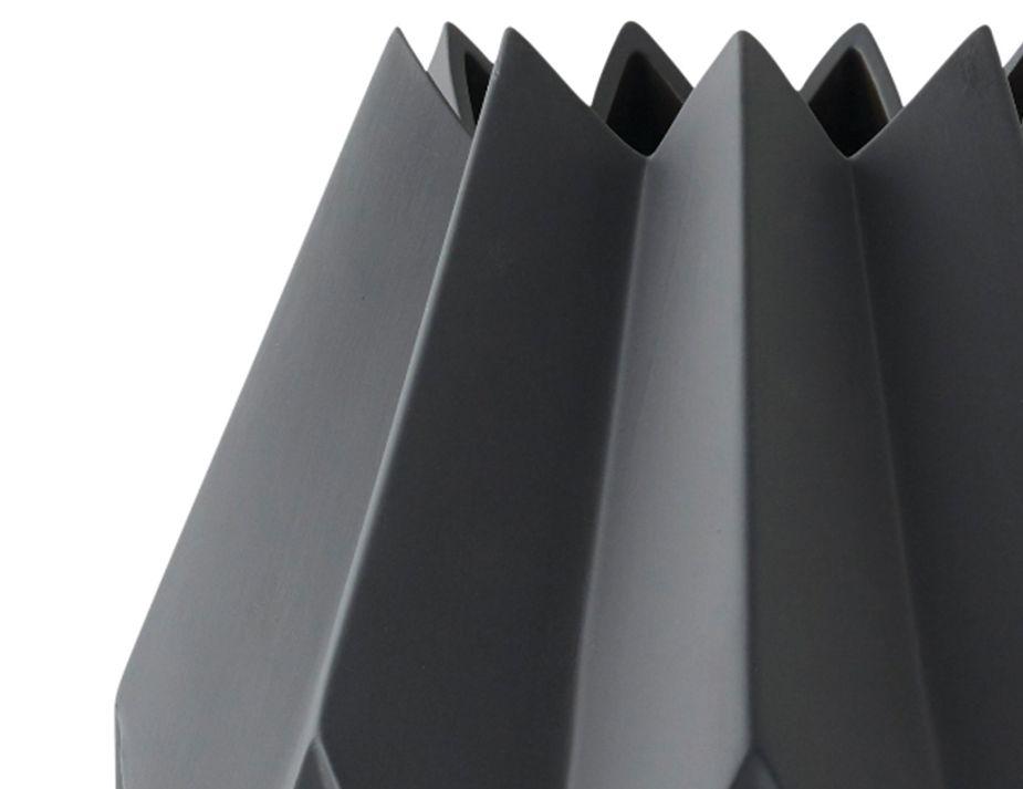 Folded Vase Close Charcoal