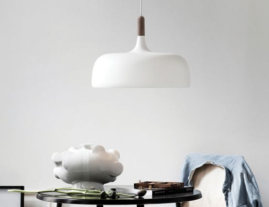 Acorn_0004_Northern Lighting Acorn Pendant Light White With Walnut Lifestyle