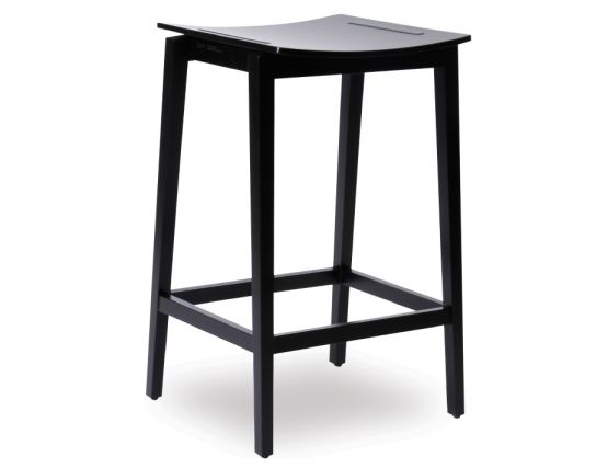 Black Beechwood Bar Stool