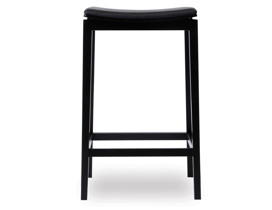 Black Padded=stool