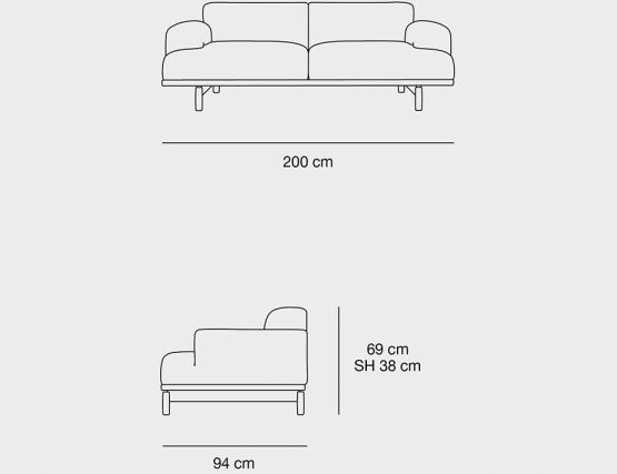 2 Seat Dimensions