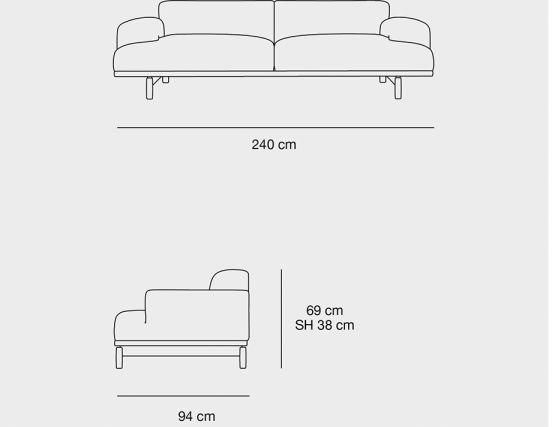3 Seat Dimensions