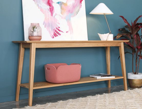 Copenhagen_Solid Oak_Console_Shelf