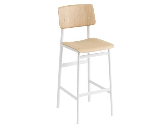Loft Stool_0005_Loft Bar Stool 75 White Oak Muuto 5000x5000 Hi Res