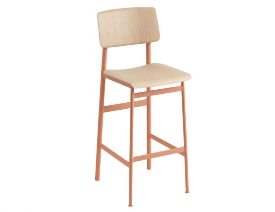 Loft Stool_0008_Loft Bar Stool 75 Dusty Rose Oak Muuto 5000x5000 Hi Res