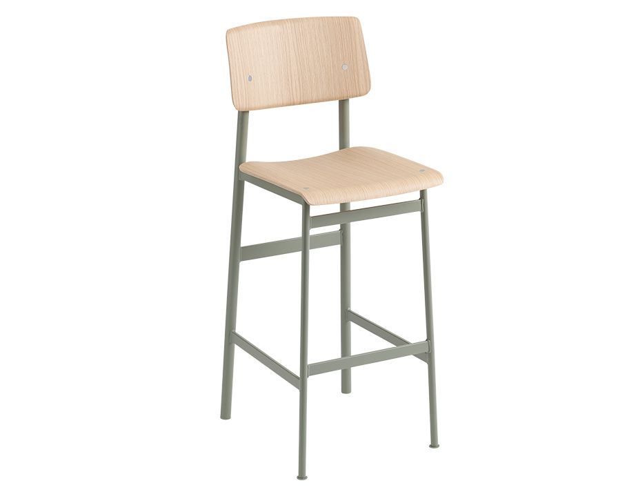 Loft Stool_0010_Loft Bar Stool 75 Dusty Green Oak Muuto 5000x5000 Hi Res