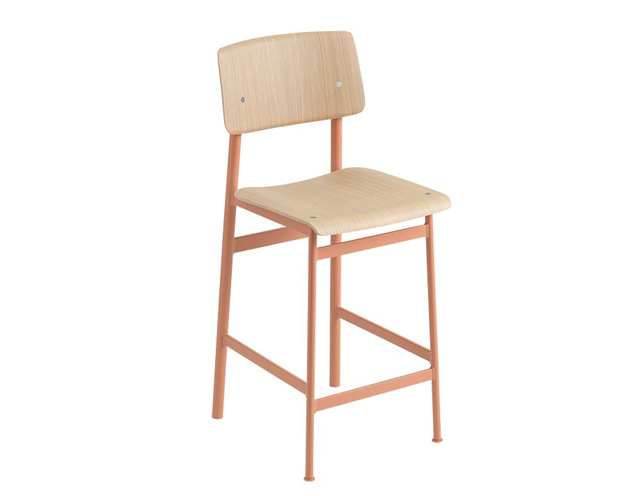 Loft Stool_0019_Loft Bar Stool 65 Dusty Rose Oak Muuto 5000x5000 Hi Res