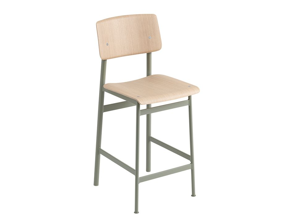 Loft Stool_0021_Loft Bar Stool 65 Dusty Green Oak Muuto 5000x5000 Hi Res