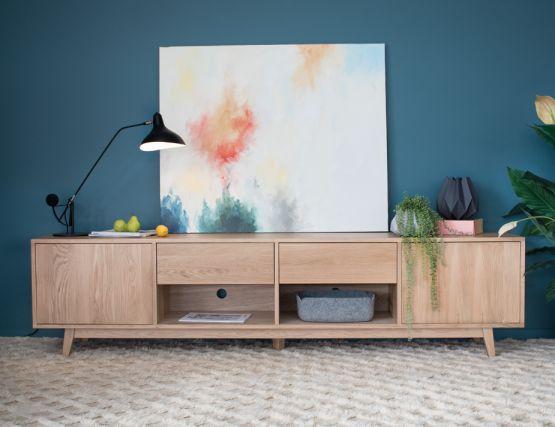 Copenhagen 240cm_SOli_Oak TV Cabinet