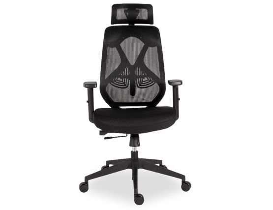 Trieste Ergonomic Office Chair With Headrest Black Frame And Mesh