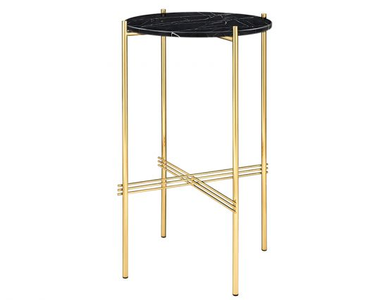 GUBI_CONSOLE_BRASS_0003_TS_Console_Round_40x70_Brass_Marble_BlackMarquina