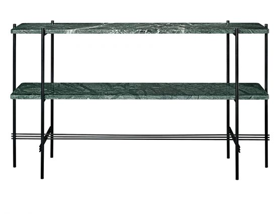 GUBI_CONSOLE_TALL_0009_TS_Console_2 Rack_120x30x72_Black_Marble_GreenGuatemala_Front