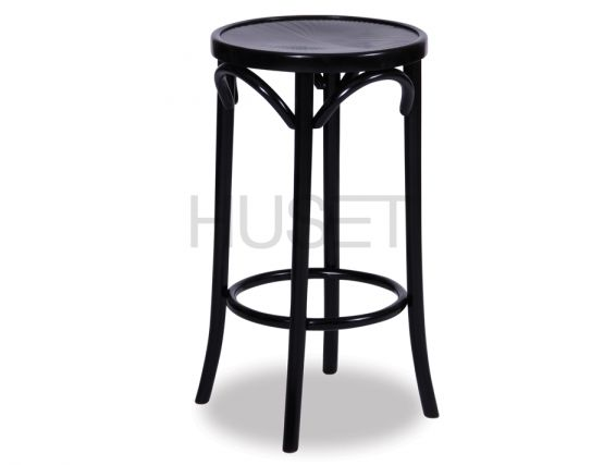 68cm Backless Bentwood Stools   Black
