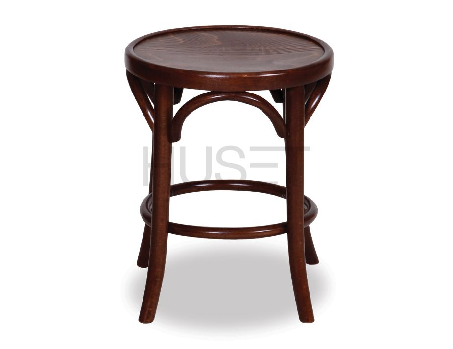 45cm Backless Bentwood Stools   Walnut
