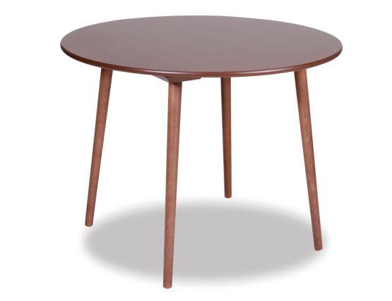 Ironica Table   Walnut Round