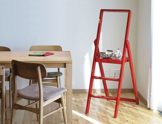 Red Step Stepladder Karl Malmvall Design House Stockholm