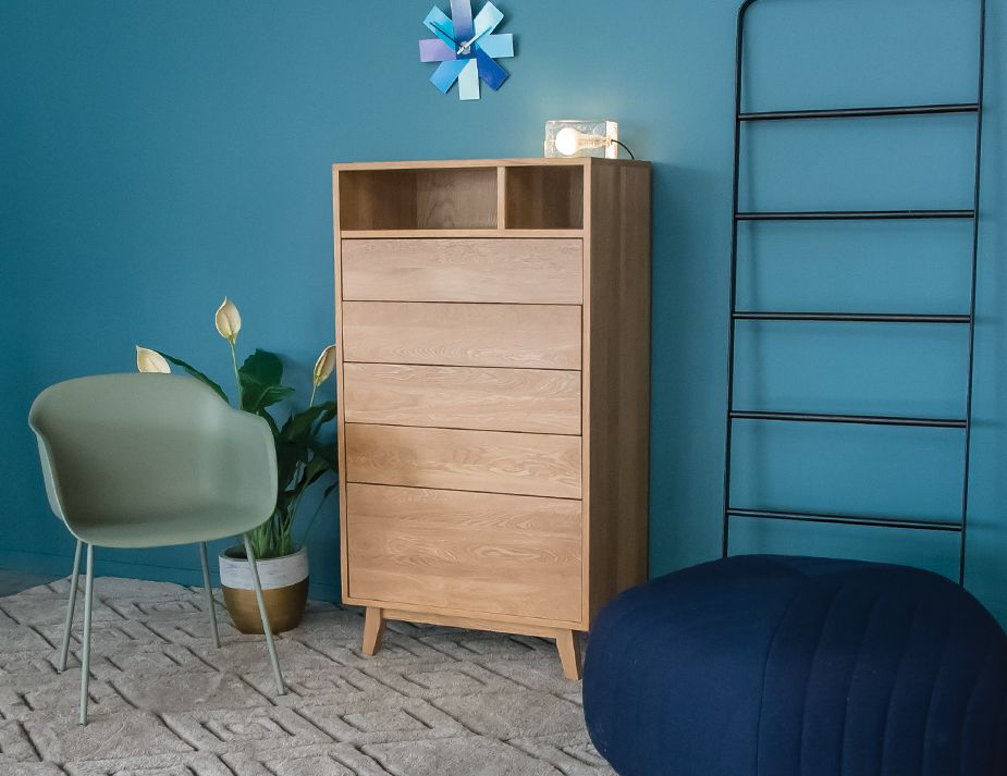 Chest Of Drawers Tall Boy Solid Wood Huset