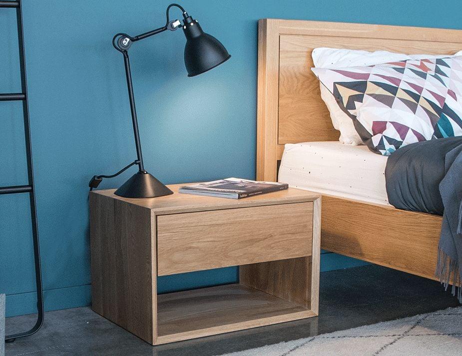 Solid Oak Bedside Table Modern Oak Nightstand