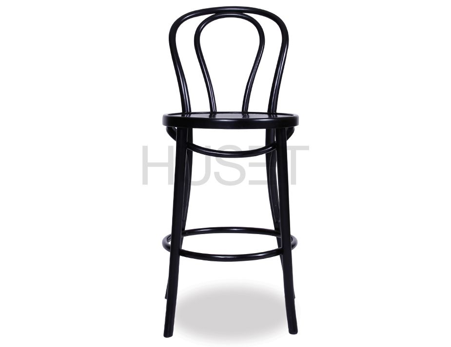 Michael Thonet Vienna Bentwood Barstool In Black